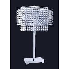 Ore International Glass Floor Lamp Satin Nickel by Amazon Com Ore International 732 28 Inch Crystal Strings Table