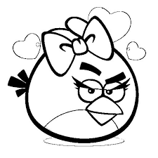 Angry Birds Girl Coloring Pages