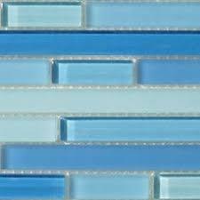 ocean glass backsplash sea glass blue mosaic tile kitchen