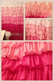 Pink Ruffled Window Curtains by Pink Ombre Ruffle Curtain Notable Curtains Gypsy Ruffled
