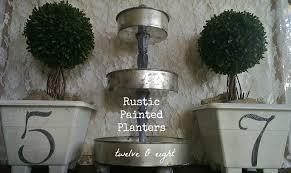Rustic Painted Garden Planters