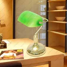 Green Bankers Lamp History by Discount Vintage Bank Table Lamps Retro Brass Bankers Lamp Green