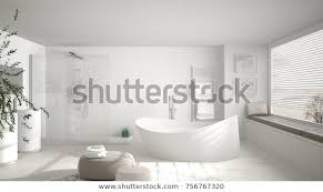 modernes klassisches badezimmer mit großem runden