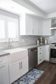White Cabinets Dark Countertop Backsplash by Best 25 Grey Countertops Ideas On Pinterest Gray Kitchen