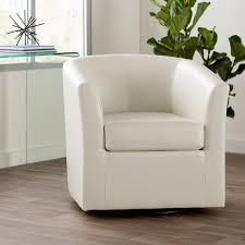 Natuzzi Swivel Tub Chair by Wade Logan Wilmore Faux Leather Swivel Barrel Chair U0026 Reviews