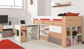 chambre enfant avec bureau lit mi haut avec bureau et commode gain de place pour chambre