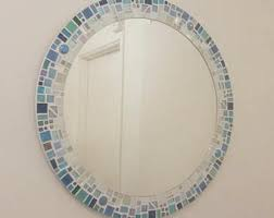 Blue Mosaic Bathroom Mirror by Round Mosaic Wall Mirror Purple Mauve 30cm Bathroom
