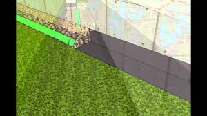 Perforated Drain Tile Sizes by How To Install A French Drain Youtube