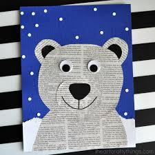 This Newspaper Polar Bear Craft Is Perfect For A Winter Kids Preschool