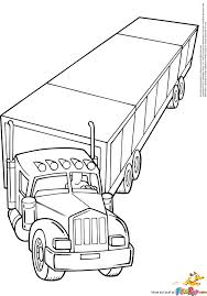 Download Coloring Pages Semi Truck Big Futpal Drawing