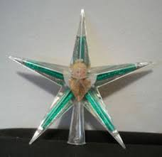 Vintage Christmas Star With Angel Tree Topper Hard Plastic Must See Unique Retro