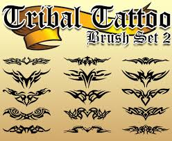 The Tribal Tattoo Brush Set ABR Provides An Encompassing Collection Of Twelve Different And Popular Types Tattoos That Are Currently In Vogue