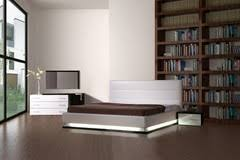 impera modern contemporary lacquer platform bed modern bedroom