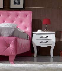 Pink VG Leatherette Twin Full Bed