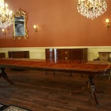 Classic Dining Room Design With Extension Table Seats 12 Double Pedestal Mahogany