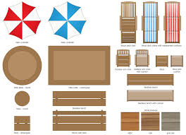Landscaping Furniture Plan View