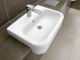 vasque semi encastrée rectangulaire en céramique