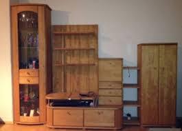 wohnzimmer schrank vitrine echtholz birke massiv wohnzimmerwand