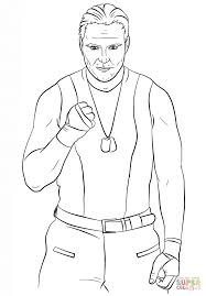 Click The WWE Dean Ambrose Coloring Pages