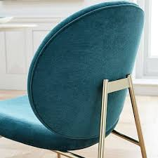 Jane Dining Chair Velvet West Elm With Regard To Turquoise Plan 17