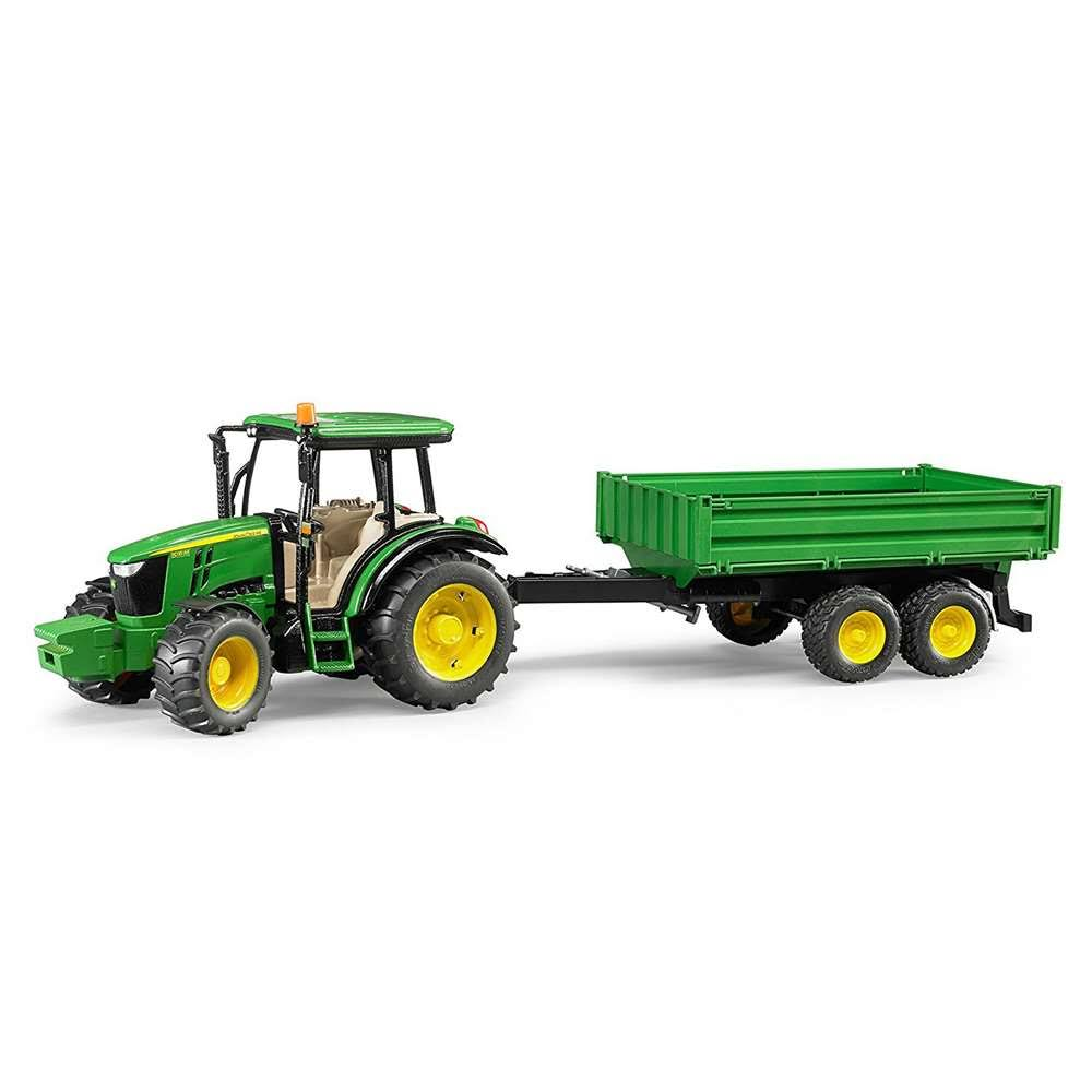 Bruder Toys 09816 John Deere 5115M Vehicle With Tipping Trailer