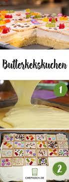 butterkeks kuchen hingucker mit bunten keksen butterkeks