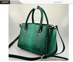100 Genuine Python Snake Skin Bag Lady Women Handbag Purse In Green Grey RedColor Natural Top Handle Bags From Luggage On Aliexpress