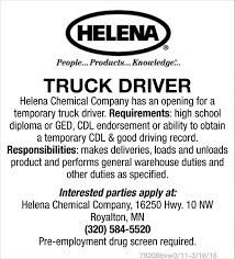 Truck Driver, Helena Chemical Company Sample Resume For Truck Driver With No Experience Valid Cover Letter Cdl Template Objective Driving Academy Catalog Cv Format For Driver Job Sample Resume Truck Drivers Awesome Fresh School Requirements Gezginturknet Stock Sweepers Takes More Dafs News Watts And Van Swansea Hds Institute Tucson Az Admission Quirements Stibera Rumes Beautiful Duties Cesecolossus Free Samples Download 12 New How To Become A Trucking Good Know Tech Has List Of Schools Best Image Kusaboshicom