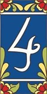 Mexican Tile House Numbers With Frame by Amazon Com 3