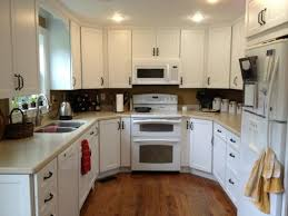 fancy recessed lighting kitchen ideas above white home appliances