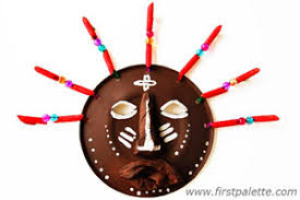 African Paper Plate Mask Craft