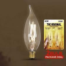 feit bp40cft 40w vintage style chandelier 120v candelabra bulb