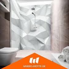 details zu eck duschrückwand zwei platten alu bad dusche wand glass poly white