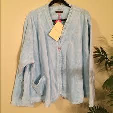 stan herman stan herman chenille bed jacket with bias binding