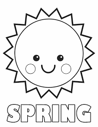 Detail Printable Coloring Pages Of Smiley Spring