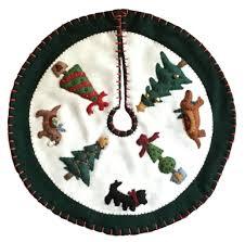 Kmart Christmas Tree Skirt by Mary Engelbreit Wreath Tree Skirt Felt Applique Kit