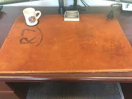 Leather Desk Blotters Uk by Full Grain Leather Desk Pad Desk Cover Blotter Desk Mat