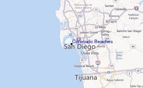 Coronado Beaches Regional Map Local