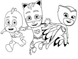 Pj Masks Coloring Pages Mask Pictures To Color And Print Mobile