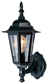 volume lighting 1 light black outdoor wall sconce traditional