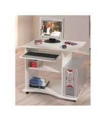 bureau informatique compact petit bureau informatique blanc pratique et compact