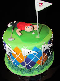 Cake Decoration Ideas For A Man by Golf Cake Birthday Cake For A Man Turning 75 Argyle Made From