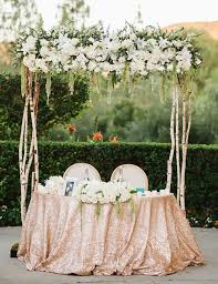 Sweetheart Table Ideas Outdoor Garden Wedding