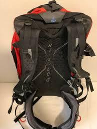 100 Atmos 35 OSPREY Internal Frame Backpack Large Black Red Gray 38L Damage