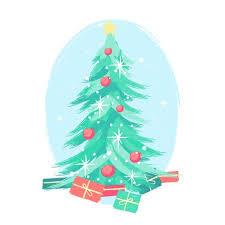 Mid Century Christmas Tree Paint Brush Styles