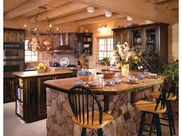 Small Log Cabin Kitchen Ideas by Pictures On Stone And Log House Plans Free Home Designs Photos