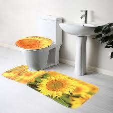 Sunflower Bath Gift Set by Sunflower Bathroom Set