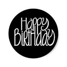 happy birthday black sticker r562a91f9ed3744d59d4a80af ce8 v9waf 8byvr 324
