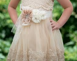 Girls Ivory Lace Dresscrochet DressIvory Flower Girl DressFlower