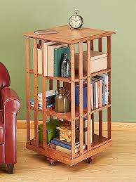 revolving danner inspired bookcase woodworking plan from wood magazine